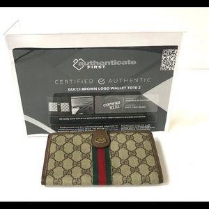 Gucci vintage supreme canvas wallet
